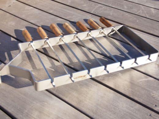 Piques à brochettes Inox pour cheminée d'extérieur Nicolazi Design