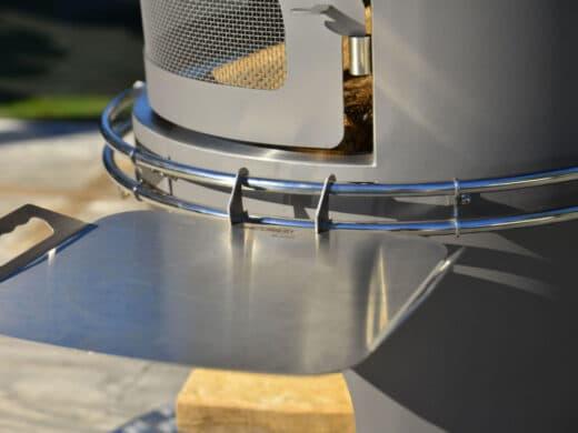 Tablette Inox pour cheminée d'extérieur Nicolazi Design