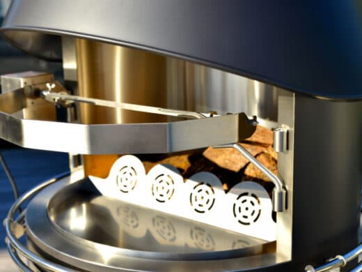 Rotisserie électrique Inox pour cheminée d'extérieur Nicolazi Design